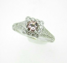 14k Gold .62ct Asscher Pink Genuine Natural Morganite and Diamond Ring (... - $825.00