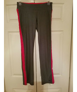 Champion Ladies Grey And Pink Athletic Yoga Ribbed Sides Pants Size M/M ... - $29.65