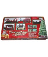 Animated Musical Christmas Magic Express Train Set Battery Locomotive Ca... - $89.99