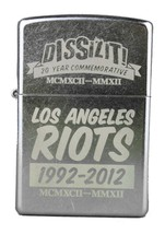 Dissizit! 20 Year Los Angeles Street Riots Commemorative Chrome Zippo Lighter NW
