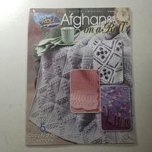 Annie's Attic Afghans on a Roll - Roll Stitch Crochet 5 Afghan Patterns - $7.98