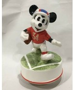 Vtg Schmid Disney Mickey Mouse Football Player Music Box Dancer - $24.99