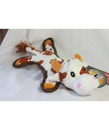 Dog Toy (new) BABY BUMP BROWN COW - ROPE & TENNIS BALL INSIDE -MODERATE ... - £9.24 GBP
