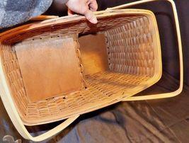 Double Handled Swing Basket Handmade AA18-1294 Vintage image 4