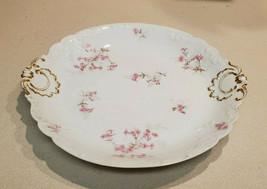 Vintage GDA England Haviland Limoges C.H. Field Floral Round Serving Platter - $59.35
