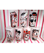 FaB 1950's Federal Glass Gay Fad 7pc Poor Man, Beggar, Thief Frosted Tum... - $125.00