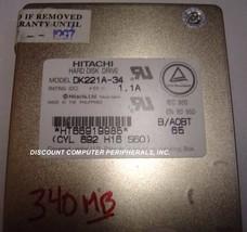 "Hitachi DK221A-34 340MB 2.5"" 12MM IDE Drive Tested Good Free USA Ship"