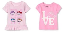 Nickelodeon Teenage Mutant Ninja Turtles Toddler girls T-Shirts 2T 3T 4T 5T NWT