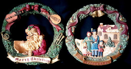 2 Windsor Collection Merry Christmas Silent Night Ceramic Christmas Wrea... - €29,69 EUR