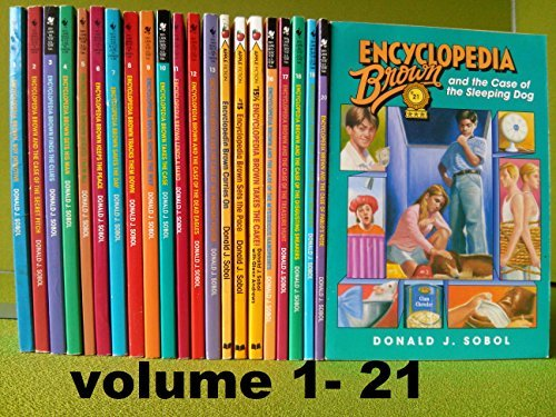 Primary image for Encyclopedia Brown series, Complete Set, Books 1-21 ( 22 books) [Paperback] Dona