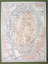 GERMANY Lubeck City Plan Railwaus - 1904 MAP ORIGINAL Baedeker - $5.07