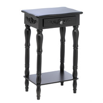 Side Tables Living Room Black, Simple Side Table With Drawer, Mdf And Pi... - £54.83 GBP