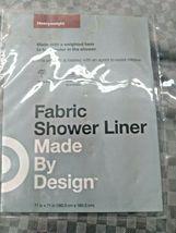 Waterproof Heavyweight Basket Weave Shower Liner Sleek Gray - 71''X71'' GREY  image 7