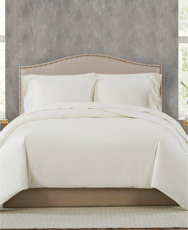 Charisma 400 TC Percale  Cotton 3-Pc. King Ivory Duvet Set  T4101803 - $88.40