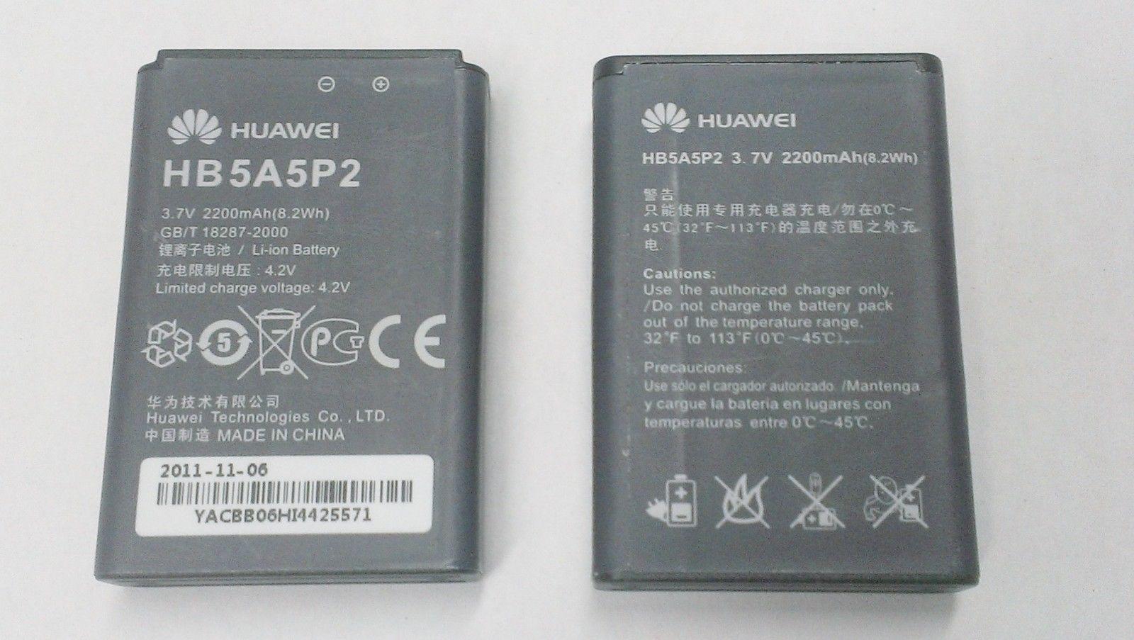 OEM Huawei Battery for T-Mobile E587 Sonic 4G Mifi Hotspot HB5A5P2 2200mAh