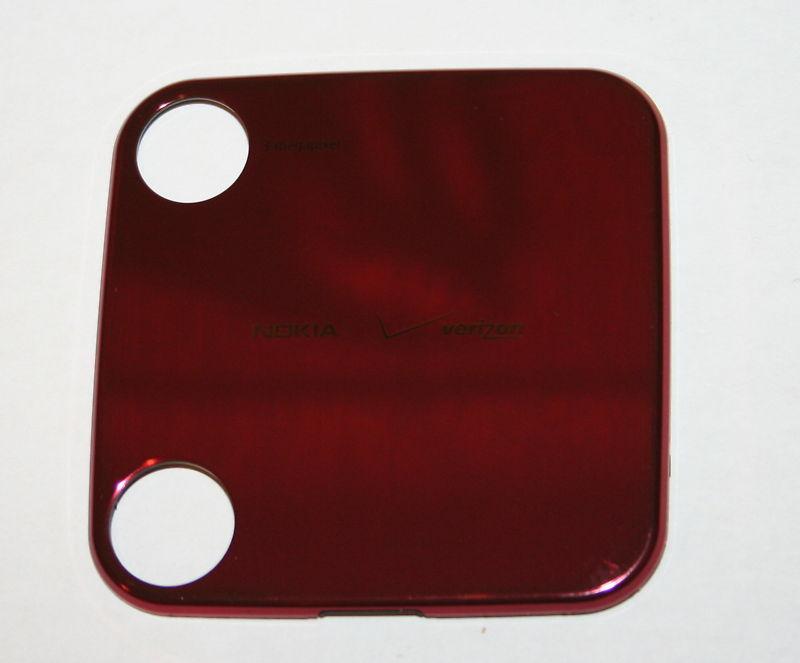 NEW OEM Nokia 7705 Twist Back Cover Battery Door RED