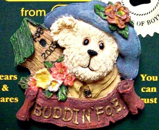 """Boyds BearWear""""Aunt Birdie"""" 2003 FoB's BearWear Resin Pin- #02003-11-New-Retired image 2"""