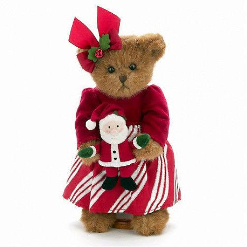 """Bearington Bear """"Chrissy & Claus 14"""" QVC LE Plush Bear - #173172 ~ NWT -Retired"""