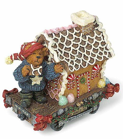 "Boyds Bearstone ""Nibbles Gingerbeary .. Home Sweet Home"" #2491 - NIB- Retired"