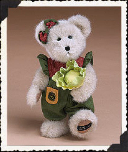 "Boyds Bears ""Lettie McVeggie""- 12""  Paw Exclusive Bear  #919829- NWT- 2004"