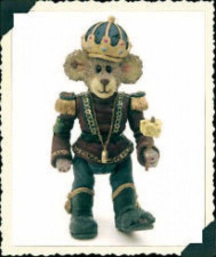 "Boyds Shoe Box Bear ""N. Mouseking"" #3223- 1E- NIB- 2000 -Retired"