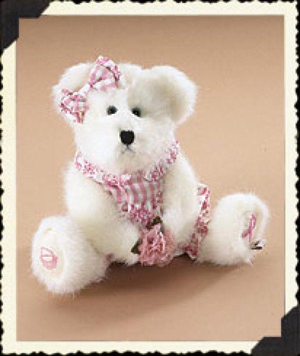 """Boyds Bear """"Gracie L. Bearywell"""" #95327LB  8"""" Longaberger LE Bear-  2006- NWT"""