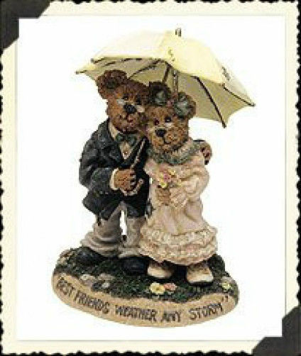 "Boyds Bearstone ""Harry & Millie..Through the Years"" #227741-1E- NIB-2001-Retired"