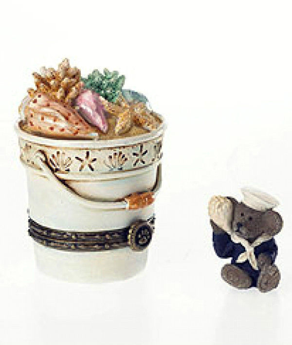 "Boyds Treasure Box ""Bethany's Beach Pail w/Shelly McNibble"" #4026248-LfE-NIB"