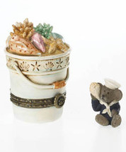 "Boyds Treasure Box ""Bethany's Beach Pail w/Shelly McNibble"" #4026248-LfE-NIB image 2"