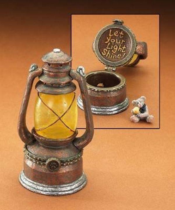 "Boyds Treasure Box ""Bearyshine's Lantern w/ Edison McNible""#392185-2E-NIB"