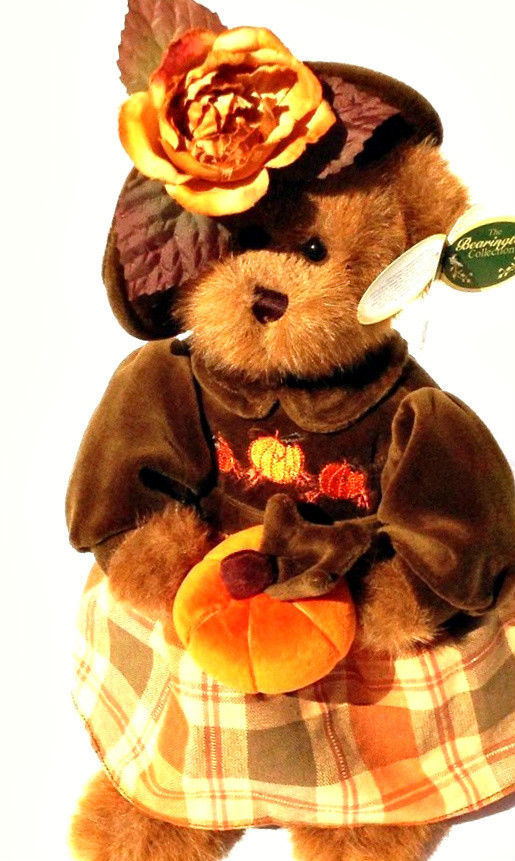 "Bearington Bears ""Autumn Harvester"" 14"" Plush Bear- #1079- NWT- 2004-Retired"