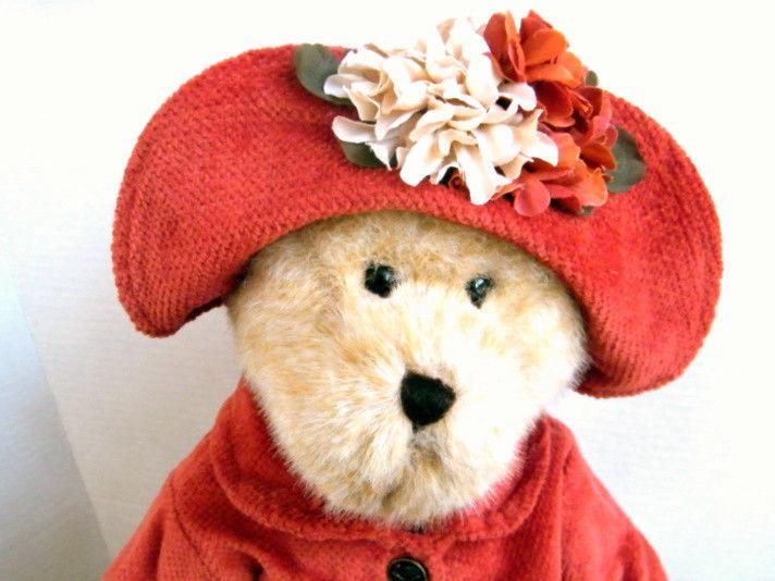 "Boyds Bears ""AMBER FALLSWORTH"" 16"" Fall Plush Bear  #904550 -NWT-2008- Retired"