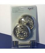 KIRSCH MEDALLION HOLDBACKS CURTAINS PAIR NIB NEW BRASS ELEGANCE DEFINED ... - $19.80