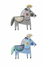 Cute Backpack Enameled Horse Pony Brooch Pin C Clasp Animal Jewelry Fancy - $11.24