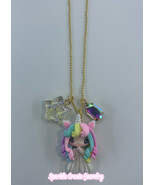 Unicorn Girl Clay Charm Necklace - $25.99+