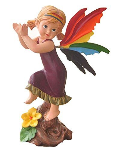 [Dancing Fairy] Resin Crafts Auto Ornament/Car Decoration,5.1x2.3x1.9'',Purple