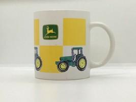 John Deere Tractor Coffee Cup Mug Green Yellow Gibson Dishwasher Microwave safe - $11.87