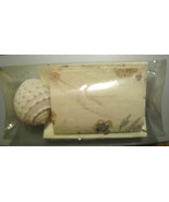 Handmade, Floral, Organic Cards & Envelopes with Sea Shell Décor - $9.09