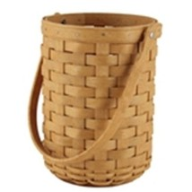 Longaberger Gift Bag Black / Khaki Check Quality Wine Bottle Beverage Tote New image 2