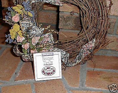 Longaberger Pottery 1996 Sweetheart Bouquet Flower Basket Tie On New In box