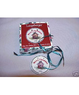 Longaberger Basket Tie On Merry Christmas Holiday Bird New In Box USA Po... - $9.85