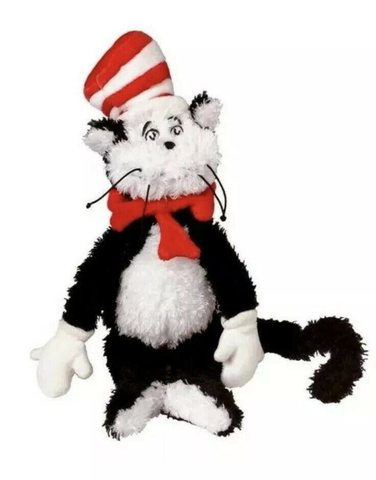 "Primary image for Dr. Seuss Cat in The Hat 12"" Soft Plush Toddler Toy Stuffed Manhattan Company"