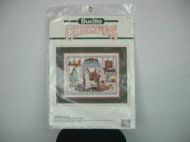 "Bucilla cross-stitch # 82851 Santa ""Checking His List"" 15"" X 12"" 1990 NIP - $23.74"