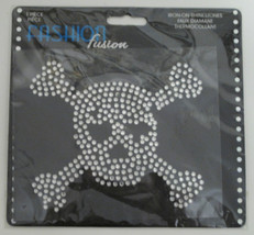 "Rhinestone Skull Iron On Applique 4"" x 3 3/4"" - $9.01"
