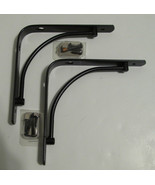 """Set of 2 Rubbermaid 6"""" Black Arch Metal Brackets for Shelving - $30.00"""