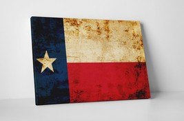 """Texas Vintage Flag Gallery Wrapped Canvas Wall Art 30""""x20"""" - $53.41"""