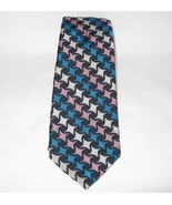 Mens Silk Tie Necktie FAIRFAX BARNEYS NEW YORK Neckwear Blue Black - $5.00