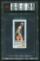 1980-81 TOPPS LARRY BIRD ROOKIE CARD RC SINGLE PANEL BVG 8.5 NM-MT+ ERVI... - $1,077.99