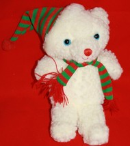 "Heritage Collection Ganz Plush XMAS CHARM BEAR 8"" Red Striped Hat Stuffe... - $19.27"