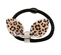 Set of 2 Adorable Hair Rope Ponytail Holders Hair Headwear,Ear,Grey Leopard